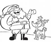 Print reindeer and santa christmas s for kidsbf96 coloring pages