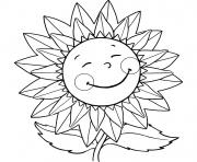 Print sunflower smiling s for kids with flowersbc56 coloring pages
