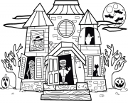 Print halloween house kids s printable for preschoolers23bc coloring pages