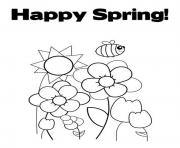 Print happy spring s for kids8638 coloring pages
