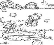 coloring pages for kids in the summer playing water39ca