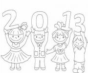 Print kids s for kids new year8791 coloring pages