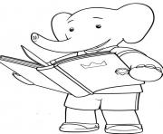 Print little babar cartoon s for kidsb049 coloring pages