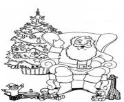 Print santa relaxing in a chair christmas s for kids43e9 coloring pages