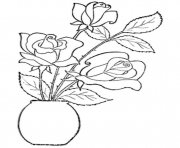 Printable rose flower s kids4d13 coloring pages