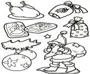 Print santa claus and everything about christmas s for kids5588 coloring pages