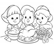 coloring pages for kids thanksgiving mealdf04