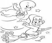 Print wendy and casper ghost s for kids3d4c coloring pages