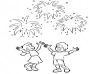 coloring pages for kids new year fireworksb52a