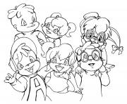 alvin and the chipmunks and chipettes s8fa2 coloring pages
