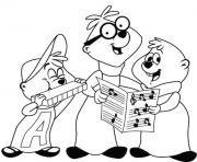 Print alvin and the chipmunks s free4724 coloring pages