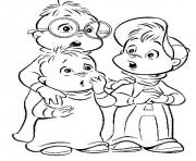 Printable coloring pages of alvin and the chipmunks coloring pages