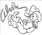 Printable cowboy alvin and the chipmunks  coloring pages