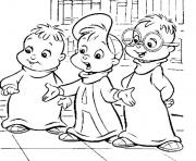 Printable alvin and the chipmunks cartoon coloring pages