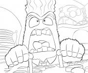 Printable anger inside out coloring pages