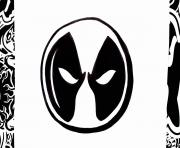 logo deadpool coloring pages