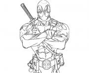 Print deadpool anti hero coloring pages