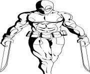 deadpool 17 coloring pages