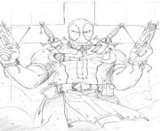 deadpool 19 coloring pages