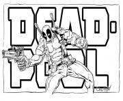 Print deadpool logo movie 2016 coloring pages
