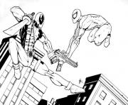 Print deadpool vs superman heroes coloring pages