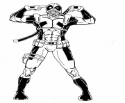 deadpool 13 coloring pages