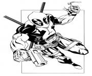 deadpool 7 coloring pages