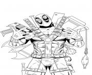 Print deadpool hight quality hd coloring pages