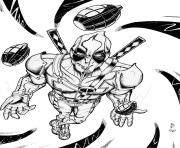 deadpool online 9 coloring pages
