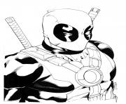 Print deadpool for adults coloring pages