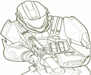 Halo Spartan Coloring Pages 839x1024