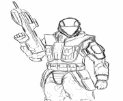 Halo Odst Coloring Pages 785x1024