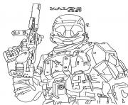 Print Halo Reach Coloring Pages To Print coloring pages