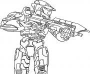 Printable halo precision coloring pages