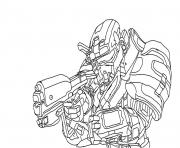 halo reach spartan coloring pages - Halo Coloring Pages