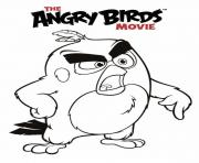 angry birds movie red coloring pages