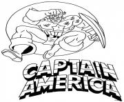 Printable captain america avec logo coloring pages
