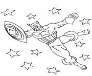 Printable superhero captain america 29 coloring pages