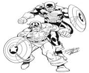 Printable superhero captain america 30 coloring pages