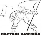 Printable superhero captain america 243 coloring pages
