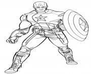 Printable superhero captain america 41 coloring pages