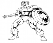 Printable superhero captain america 38 coloring pages