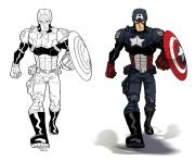 Printable superhero captain america 43 coloring pages