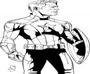 superhero captain america 175 coloring pages