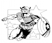 Printable superhero captain america 368 coloring pages
