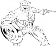 Printable superhero captain america 66 coloring pages