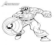 Printable superhero captain america 20 coloring pages