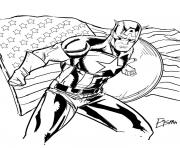 Printable superhero captain america 50 coloring pages