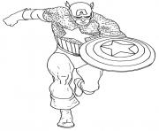 Printable superhero captain america 15 coloring pages