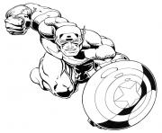 Printable superhero captain america 40 coloring pages